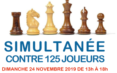 Simultanée d'échecs le 24 novembre