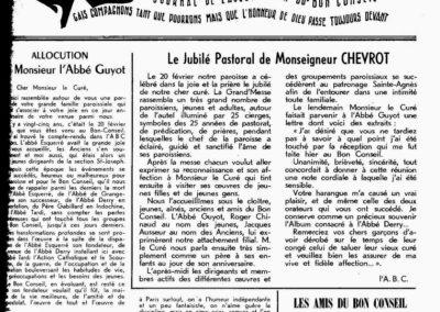 Allocution P.G Jubilé Mgr Chevrot
