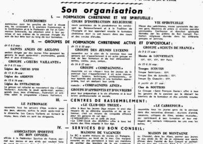 Organisation du BC 12-1951