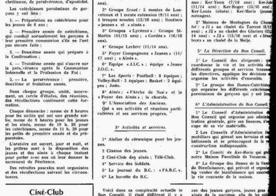 Organisation du BC 12-1959