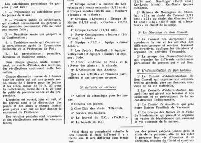 Organisation du BC Dec 1959