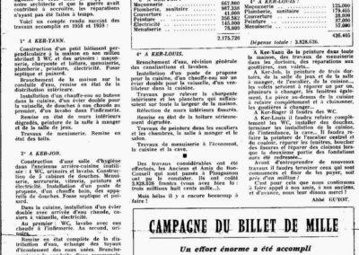 Travaux à Plougasnou 1959
