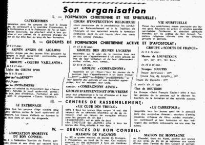 organisation du BC 12-1952
